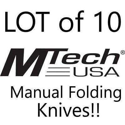 LOT of 10 Mtech USA Tactical Manual Folding Pocket Knives Wholesale NEW!