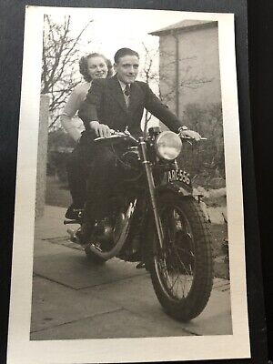 Antique vintage Old Retro photograph Photography 40s motorcycle Motorbike