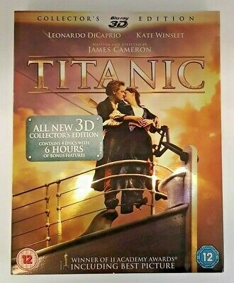 Titanic Blu-ray (2012) 3D Collectors Edition. Very good condition.
