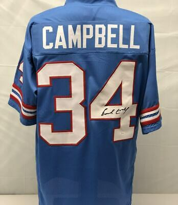EARL CAMPBELL AUTOGRAPHED Signed Insc. Houston Oilers Jersey Jsa Coa ... 7fb63018f