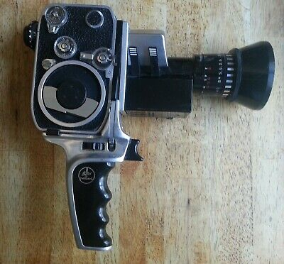 Vintage 8mm Bolex Paillard Zoom Reflex P3 cine camera in case.  Not tested.