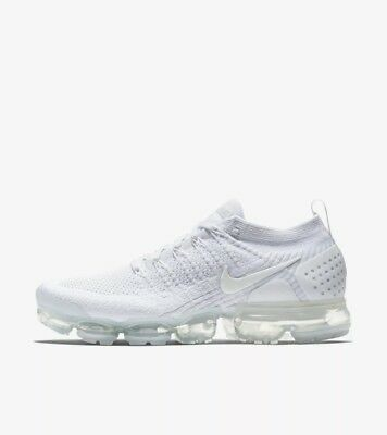 Nike Air VaporMax Flyknit 2 Pure Platinum White Grey 942842-105 Men's Size 7-15