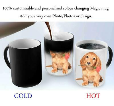 Personalised Mug Custom Photo Text Magic Mug White Mug Colour Changing Mug