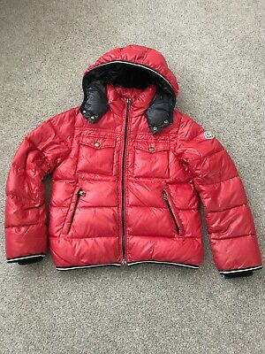 Boys Red Moncler Coat Age 10