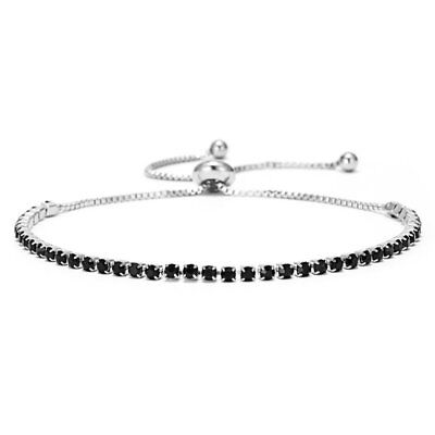 Women's Adjustable Bracelet Rhinestone Crystal Cuff Bangle Fashion Jewelry