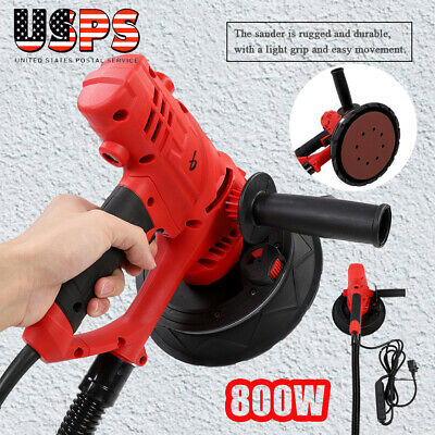 Electric HandHeld Drywall Sander 800W Variable Speed with Vacuum & LED Light New