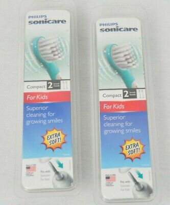 Philips Sonicare For Kids Compact Replacement Brush Head Extra Soft 4 New Heads