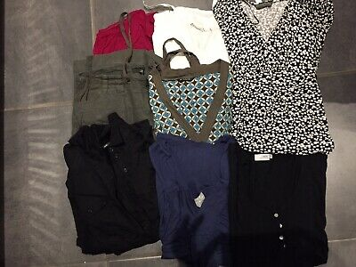maternity clothes size 12. 6 Tops, 1 Dress And 1 Cropped Linen Trousers