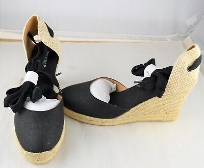 66dc27cfcc88 NIB SOLUDOS TALL Wedge Leather Tan Camel Ankle Tie Wrap Sandals Size ...