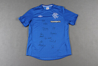 Rangers 2012-2013 UMBRO Home Football Shirt Adult - L - with autographs ##