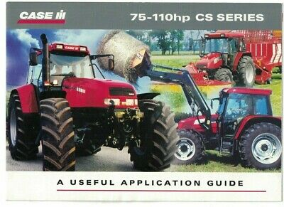 Case IH New CS Series Application Guide Tractor Brochure / Leaflet 2000 6438F