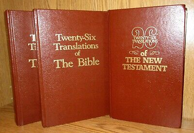 The Bible from 26 Twenty-Six Translations in 3 Volumes, Study Bible by C Vaughan