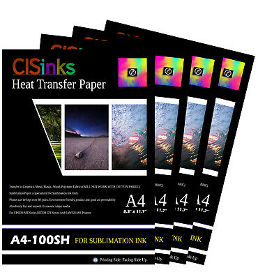 """400 Sheets A4 8.3""""x11.7""""100gsm Sublimation Transfer Paper for Specialty Printing"""