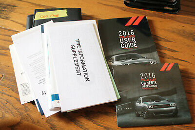 dodge challenger owners manual 2016