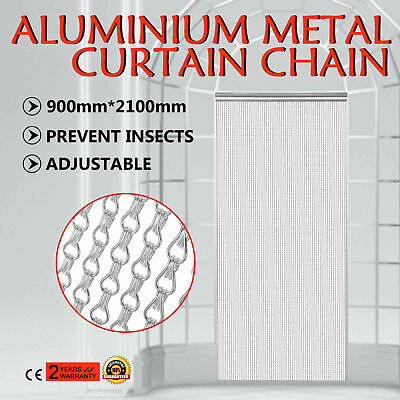 Aluminium Fly Pest Door Screen easily adjust Chain Curtain Silver color HOT