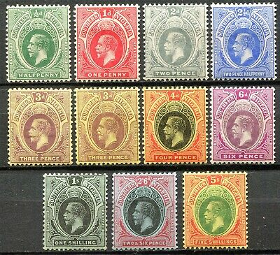 Southern Nigeria 1912 issue, SG 45 - 54, Mint Hinged, CV £47