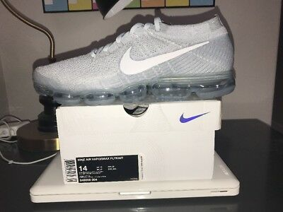 Nike Air Vapormax Flyknit Pure Platinum Wolf Grey 849558-004 Size 14 Authentic