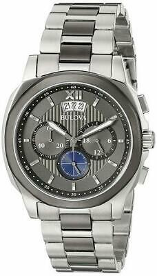 New Bulova Men's 98B233 Chronograph Two-Tone Stainless Steel Watch