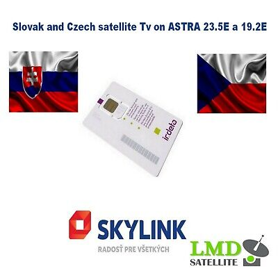 Skylink Card Standard M7 HD IRDETO Slovak and Czech satellite tv channels