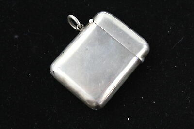Antique Hallmarked 1905 Chester Sterling Silver VESTA Case (56g)