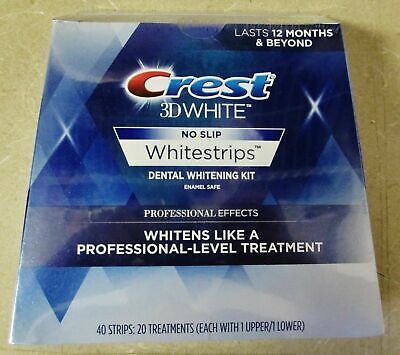 Crest3D Professional Effects Teeth Whitening Whitestrips 10 Pouches - 20 Strips