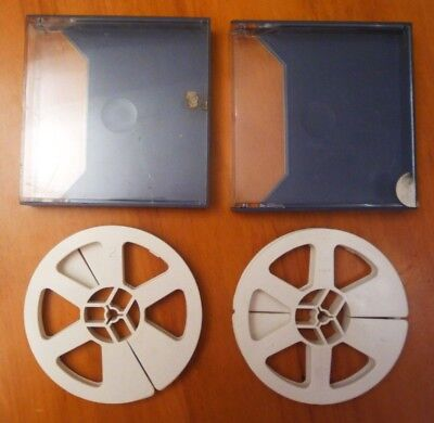 """TWO 5""""  8mm FILM SPOOLS IN PROTECTIVE CASES"""
