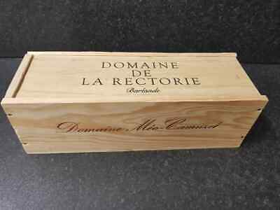 SINGLE bottle size - Wooden Wine Box Crate for Vintage Shabby Chic Home Storage