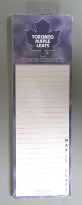 """Toronto Maple Leafs Nhl Licensed Magnetic Notepad - 9"""" X 3"""" - 50 Sheets - New!"""