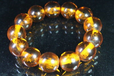 Noble Handwork Collectable Decoration Amber Inlay Cute Bee Exquisite Bracelet