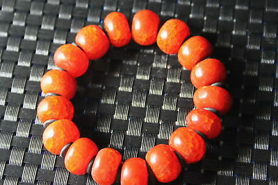 Auspicious Collect Handwork Decoration Agate Polishing Red Bead String Bracelet