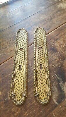 Pair Of Antique French Brass Door / Finger Plates