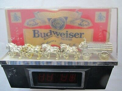 Vintage 1970's Budweiser beer clock sign with Clyesdale horses for parts