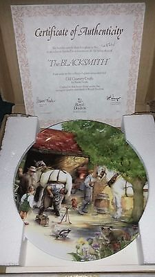 New Collectors Royal Doulton 1st Issue Old Country Crafts The Blacksmith Plate