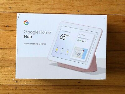 "Google Home Hub with Google Assistant Smart 7"" Display - Sand red pink color"