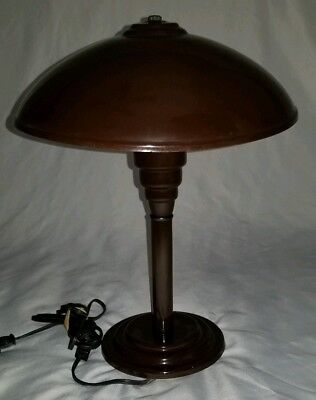 Mid-Century Modern UFO table lamp Flying Saucer Atomic space Age vintage