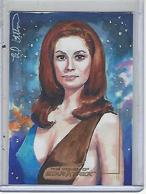 Women of Star Trek 2017 50th Anniversary Sketch Brad Utterstrom #1