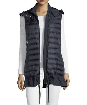 22f55a185  695 NEW MONCLER Maglione Tricot Gilet Down Quilted Peplum Vest Size ...