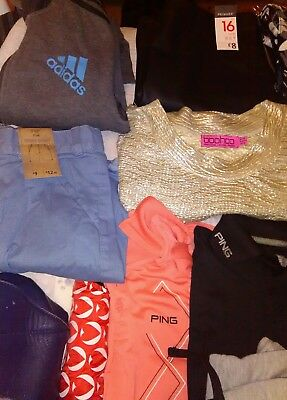 Job lot of mixed clothing #over 65 items #MORE ADDED 30+.EXERCISE BIKE/SLIDER