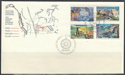 Canada Scott 1202a FDC - 1988 Exploration of Canada Issue