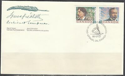 Canada Scott 1244a FDC - Canadian Poets