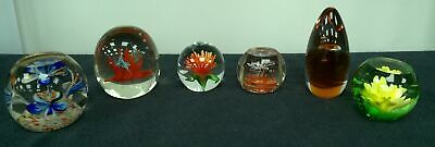 6 x Paperweights Various Flowers #837