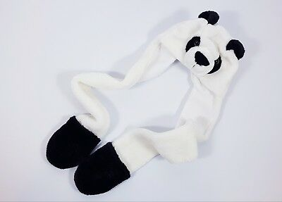 Unisex PANDA HAT with Hand Pockets ONE SIZE