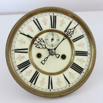 ANTIQUE VIENNA REGULATOR CLOCK MOVEMENT weight driven LARGE PORCELAIN DIAL parts