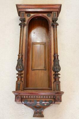 VIENNA REGULATOR WALL CLOCK CASE for weight driven mechanism WONDERFUL CARVING
