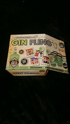16pc GIN FLING Adult Party Game Ping Pong Drinking Xmas Gift Fun Set Stag Hen