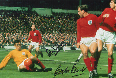 GORDON BANKS & RAY WILSON Signed In Person 12x8 Photo WORLD CUP 1966 COA