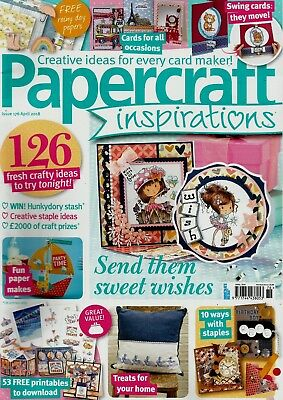 Papercraft Inspirations  Magazine Issue 176   April  2018.   No  Free Gift
