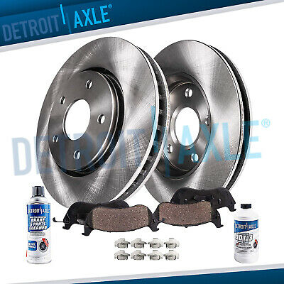 Fits For 02-04 Odyssey Front /& Rear Brake Rotors /& Ceramic Pads Parking Shoe 8Pc