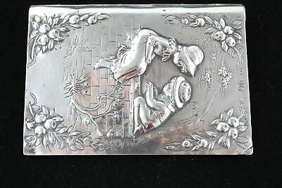 Antique Victorian Hallmarked 1881 London Sterling Silver NOTEBOOK COVER (121g)
