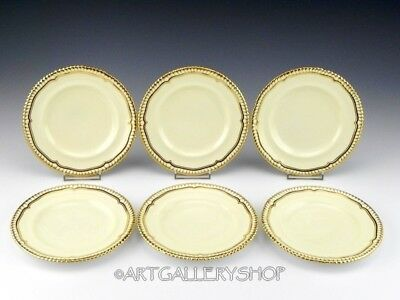 "Spode Copeland England GOLDSMITH IVORY & GOLD 6-1/8"" BREAD & BUTTER PLATES Set 6"